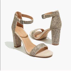 Madewell Brooke Ankle-Strap Sandal Spot Dot Calf